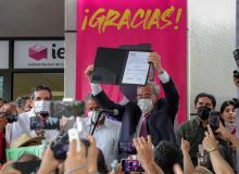Rubén Rocha Moya, gobernador electo con una votación histórica.