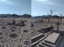 Emergen tumbas que muestran el estiaje que amenaza la economía agrícola de Sinaloa.